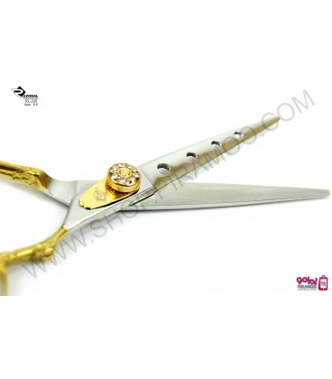 قیچی کات طلایی کنده کاری شده 5.5اینچ رزونال مدل REZONAL RL-230