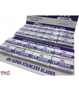 تیغ اصلاح اس تی جان ( بسته 200 عددی ) ST.JOHN Stainless Blades