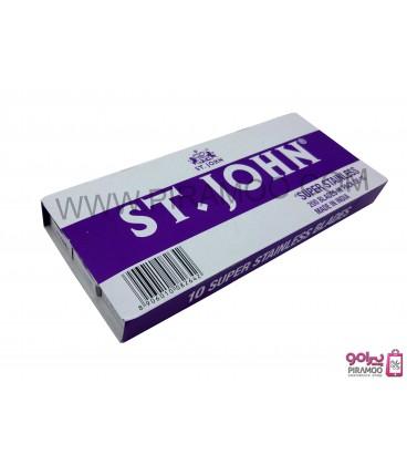 تیغ اصلاح تی جان ( بسته 200 عددی ) ST.JOHN Stainless Blades