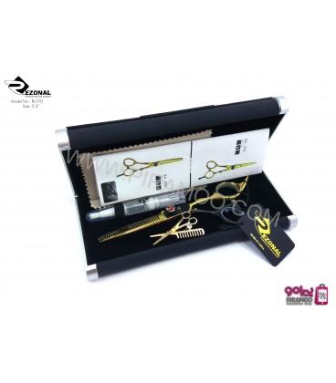 قیچی پیتاژ طلایی دو رنگ 5.5اینچ رزونال مدل REZONAL RL-370