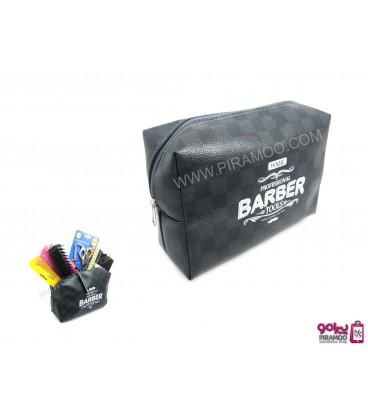 کیف ابزار آرایشگاهی طرح چرم وال Wahl Barber Tools