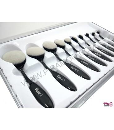 ست براش مسواکی 10 عددی makeup brush
