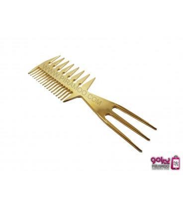شانه تبری پلاستیکی طلایی