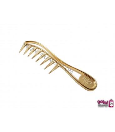 شانه فرم چنگکی پلاستیکی طلایی