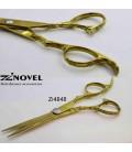 قیچی کات کنده کاری طلایی 6 اینچ زینوول کد Zi4848