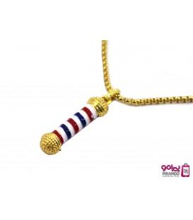گردنبند آرایشگری طرح باربرپل طلایی