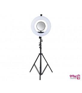 رینگ لایت ریموت دار دیجیتالی همراه بالوازم جانبی LED COLOR RING LIGHT BK416 II
