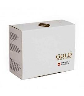 پک کراتین احیاء برند بی کی تی نانو گلد همراه شامپو قبل و بعد قوطی 100 میل NANO KERATIN GOLD TREATMENT