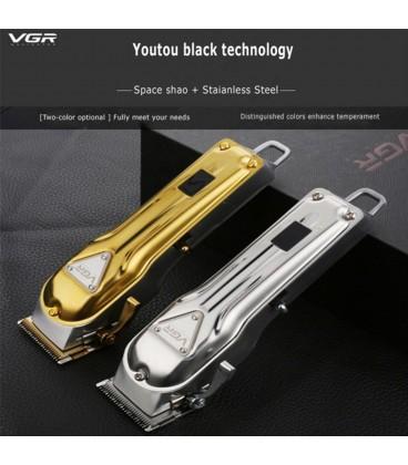 ماشین اصلاح سر و صورت وی جی آر طلایی مدل VGR V-140