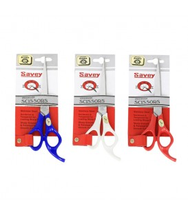 قیچی 6 اینچ دسته رنگی ساوی Savey Stainless Steel Scissors