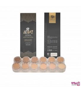 پالت فوندیشن 12 رنگ لنکا LENKA Foundation Cream make-up pura